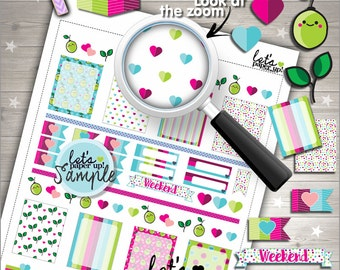 60%OFF - Fruit Stickers, Printable Planner Stickers, Weekly Stickers, Lemon Stickers, Functional Stickers, Planner Accessories, Cute