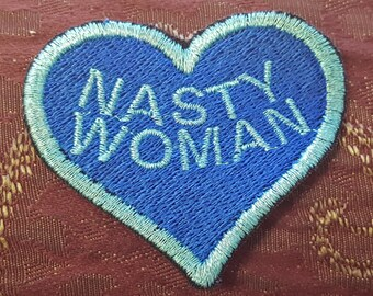Hillary Clinton Nasty Woman Patches