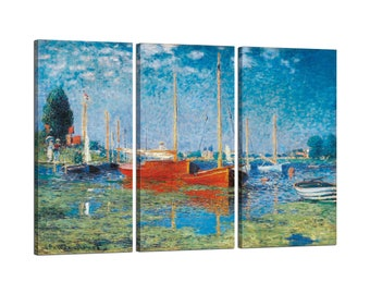 On canvas Claude Monet's Argenteuil framed