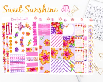 Sweet Sunshine | Planner Stickers | Weekly Planner Sticker Set | Cute Girl Sticker Set