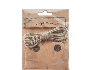 Kraft Luggage Tags With Twine, Luggage Tags, Labels, Brown Tags, Gift Wrapping, Craft Supplies, Tags, Wedding, Party Supplies, Tags, Gifts