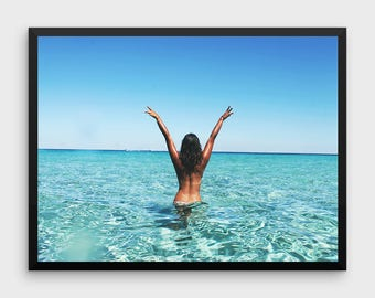 Beach Print   Beach Decor, Wall Art Photo Prints, Beach Printable Art, Lifeguard Tower, Beach Life, Beach Photography, Coastal, Summer Decor