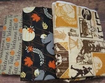 Fall/Harvest End of Bolt Cotton Fabric Bundle LA0009