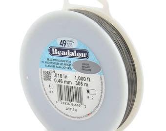 1,000ft - Beadalon 49 Strand .018 BRIGHT Stainless Steel Flex Beading Wire