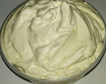 Organic Cocoa Body Butter - All Natural - Hand Whipped - Bath and Body - Made Fresh - Unscented - Customizable - For Sensitive Skin