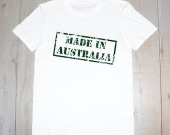 Made in Australia Stamp Printed Adult Tee