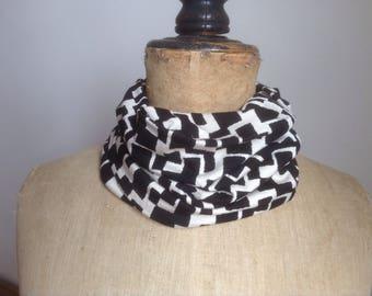 Handmade snood, neckwarmer, cowl, infinity scarf. Deco design