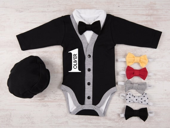 One year old boy birthday outfit personalized baby boy like this item negle Gallery