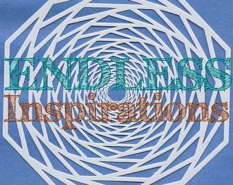Endless Inspirations Original Stencil, 6x6 Inch, Hypnotique - Free US Shipping