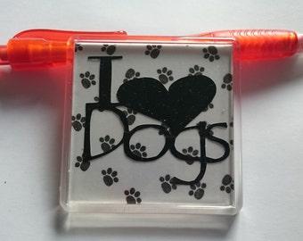 I love dogs - fridge magnet - dog lover - pet lover - kitchen decor - birthday present - gift for pet lover