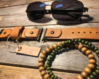 Leather watch strap, band, apple watch,   Vintage 42mm, 38mm Men or Women
