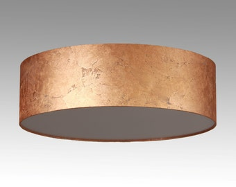 Ceiling lamp D. 60 cm, sheet copper look