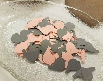 120x Bird /Dove table confetti  decoration grey, pink, peach,ivory.Romantic spring and summer Wedding , anniversary, traditional,natural eco