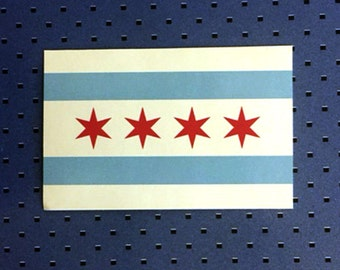 City Of Chicago Flag Sticker