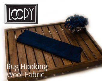 Rug Hooking Wool Fabric Blue (Starry Blue Dark) 100% wool fabric, hand dyed for rug hooking or wool applique