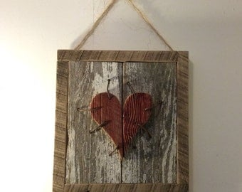 Valentine's Day Decor, Wall Art, Wall Decor, Rustic Sign, Primitive Sign, Rustic Wall Hangings, Wood Signs
