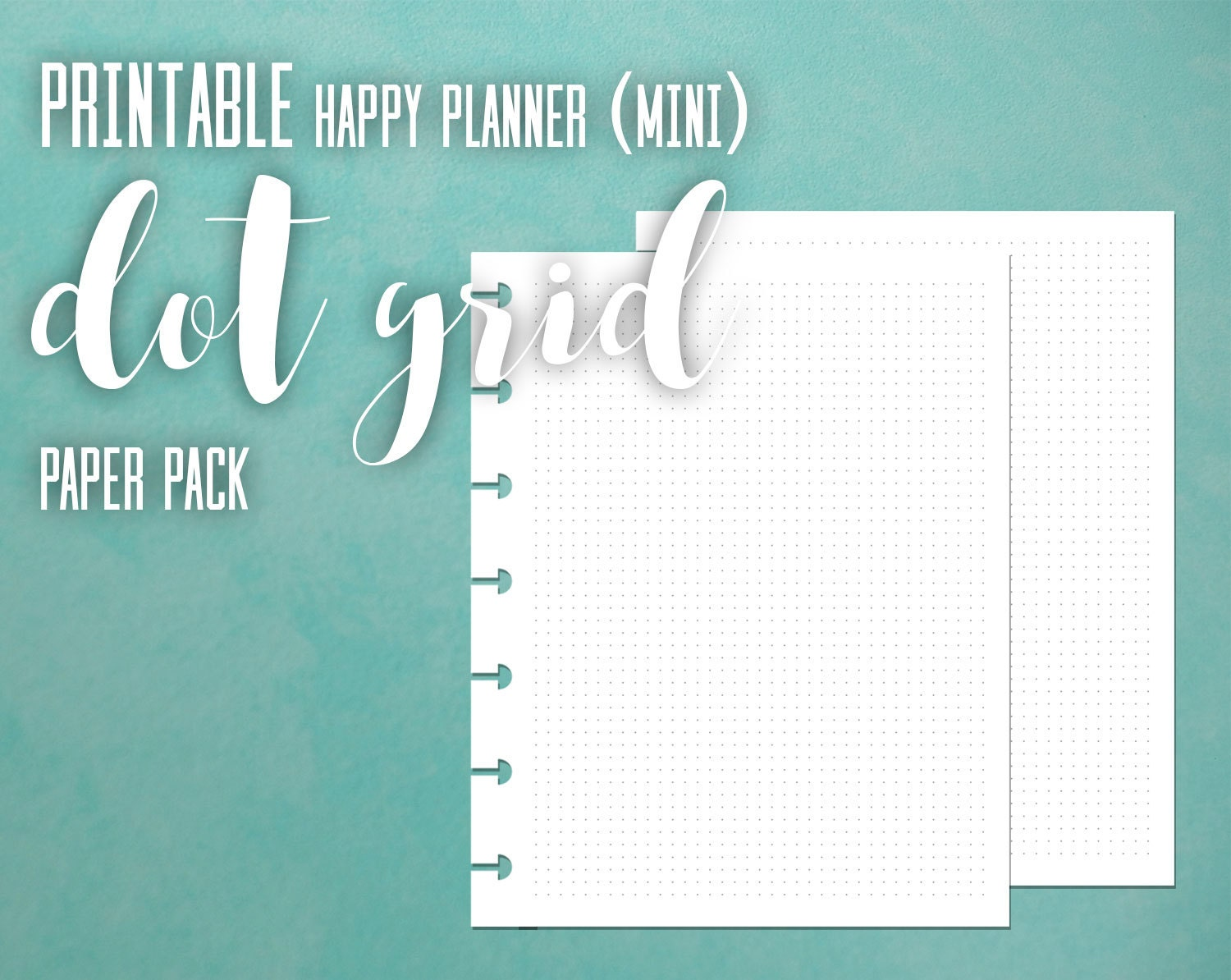 It's just a graphic of Delicate Mini Happy Planner Template