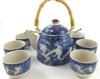 Double Chinese Dragon Tea Set