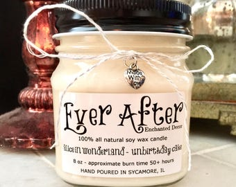 Alice In Wonderland Unbirthday Cake - 100% All Natural Soy Wax Candle