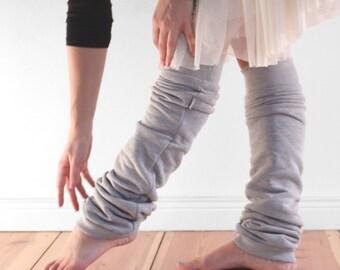 Blasse graue Ballett Stulpen, Frauen Beinlinge im Baumwoll-Vlies, Dancewear, Geschenk für Sie