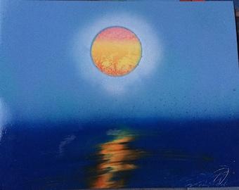 "11x14 Spray Paint Art, ""The Silence Around""!"