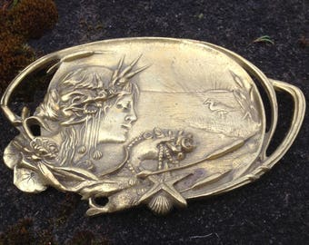 Art Nouveau Lady of The Sea Tray
