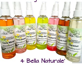 Moisturizing Hair Perfume, Handcrafted, Natural, Organic, 4oz , Aloe Vera, Coconut Oil, Conditioner, Hair Moisturizer