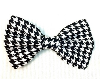 Houndstooth Check Bow Tie for Dogs