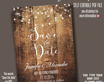 Wedding save the dates etsy sg for Free online wedding save the date templates