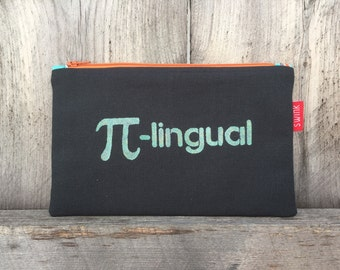 Pi-lingual Pencil Case Zipper Pouch