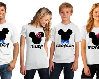 Disney Hawaiian Shirt I Disney Family Shirts | Matching Family Disney Shirts | Personalized Disney Shirts for Family I Disney Aulani