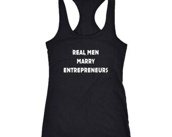 Entrepreneurs Racerback Tank Top T-Shirt. Funny Entrepreneurs Tank.