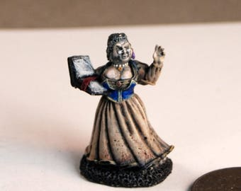 Female townswoman gaming game painted mini miniature role playing games rpg Dungeons and Dragons D&D 25mm Reaper painted lead peasant