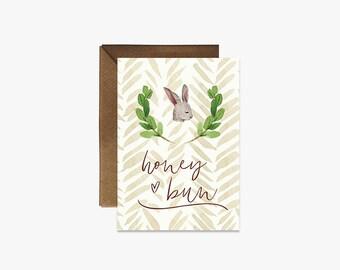 Honey bun Card + Kraft Envelopes --- G005