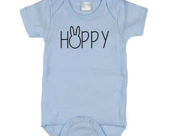 Hoppy Easter, Easter Outfits for Babys First Easter, Infant Onesie