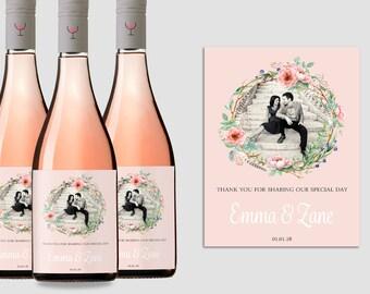 Photo Wine Label, Custom Wine Label, Personalized Wine Label, Wine Bottle Label, Wedding Wine Labels, Personalized Christmas Gift, Printable