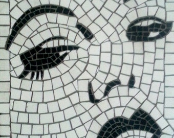 Black and White Lady Mosaic