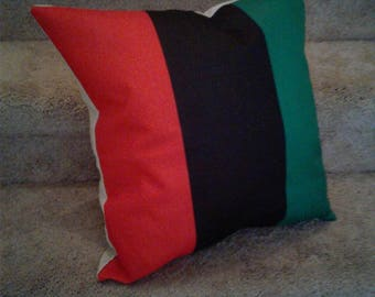RBG Pillow Pan African Flag woven pillow