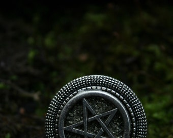 Pentagram / pyrite ring