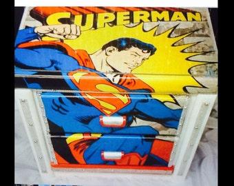 Superman - superman decor - super hero decor  - super heros - superman birthday - kids furniture - spiderman - childrens furniture