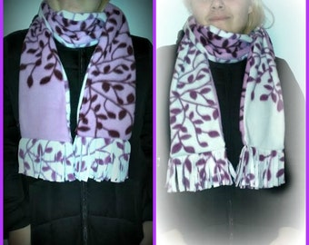 fleece scarf reversible 2 colors