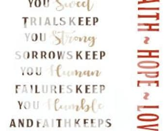 Happiness Keeps you Sweet Trials Keep you Strong Sorrow Human Failure Humble Faith Hope Love SVG dxf jpg pdf Vector File Graphic Design