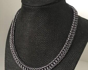 Black Ice Half Persian Necklace