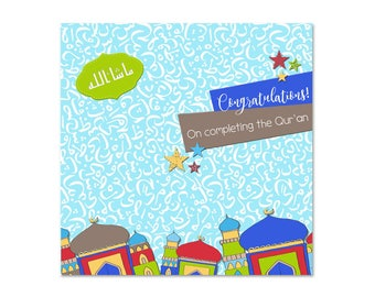 Congratulations on Completing the Quran - Boys Islamic Card