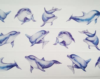Design Washi tape blue dolphins