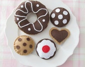 Chocolate Tea Party Set with Donut and Cookies