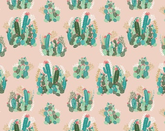 cactus valley  crib sheet - green, Palm Springs, desert, baby girl, nursery, fitted sheet , changing mat cover