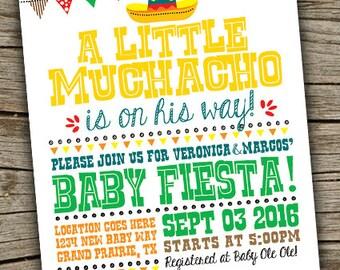 fiesta baby shower invite fiesta invitation little muchacho fiesta invite fiesta babyshower
