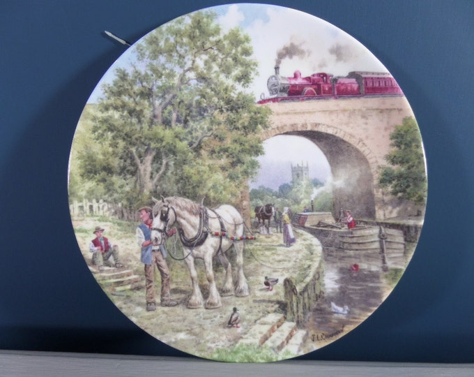 Wedgwood Plate, FREE SHIPPING, Over The Canal, Country Connections, Limited Edition John Chapman Decorative Plate No 1186C, Immaculate