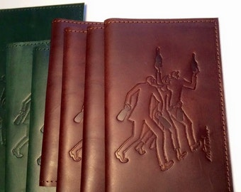 Small notebook leather, 3 drinkers